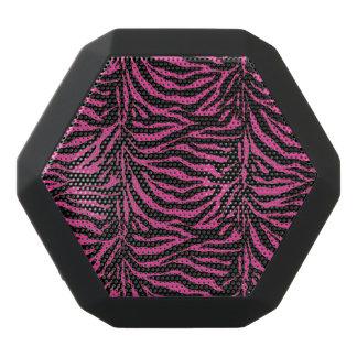 ピンクおよび黒いシマウマのアニマルプリントのスピーカー ブラックBluetoothスピーカー