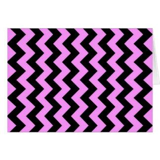 ピンクおよび黒いジグザグ形 カード