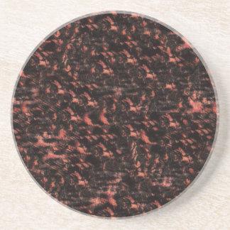 ピンクおよび黒いスネークスキン コースター