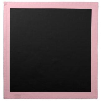 ピンクおよび黒いナプキン ナプキンクロス