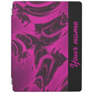 ピンクおよび黒いフラクタル iPadスマートカバー