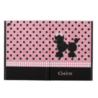 ピンクおよび黒い水玉模様及びプードルのiPadの空気2箱 Powis iPad Air 2 ケース