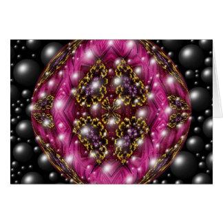 ピンクおよび黒い泡デザイン カード
