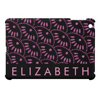 ピンクおよび黒の名前入りなiPad Miniケース iPad Miniケース
