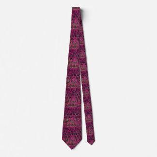 ピンクおよび黒の幾何学的なタイ ネクタイ