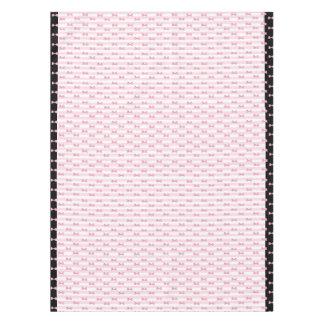 ピンクおよび黒の弓布のテーブルクロス テーブルクロス