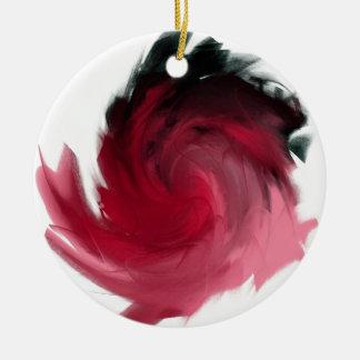 ピンクおよび黒の抽象的な絵画 セラミックオーナメント