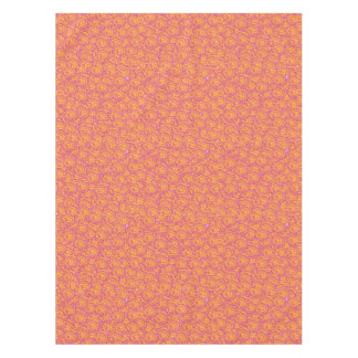 ピンクかわいくクールでガーリーな渦巻およびオレンジSWIRLS08 テーブルクロス