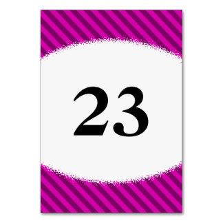 ピンクか紫色の対角線は縞で飾ります + (ばちゃばちゃ)跳ねるの形 カード