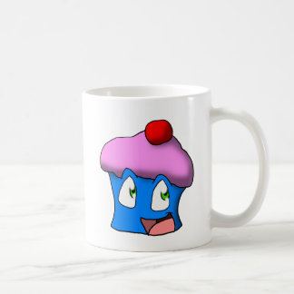 ピンクか青い漫画のカップケーキ コーヒーマグカップ