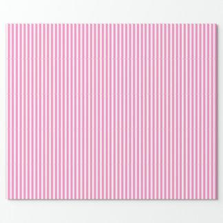 ピンクそして白いストライプの ラッピングペーパー