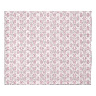 ピンクそして白く甘いバラのダマスク織のスタイルパターン 掛け布団カバー