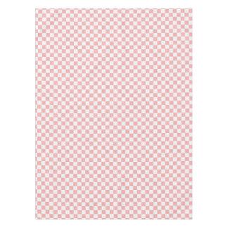 ピンクそして白人のかわいらしいレトロのチェッカー50sはパーティを楽しみます テーブルクロス