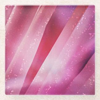ピンクでかわいらしい ガラスコースター