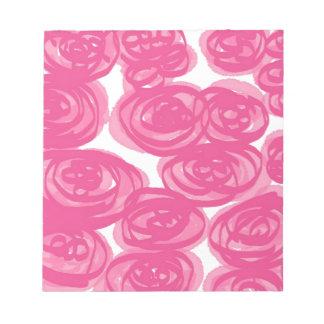 ピンクでかわいらしい! ノートパッド