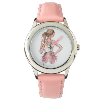 ピンクでガーリー 腕時計