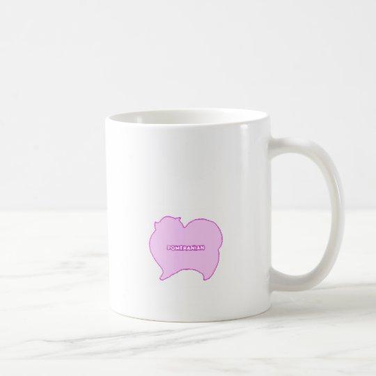 ピンクとブルーのポメラニアン コーヒーマグカップ