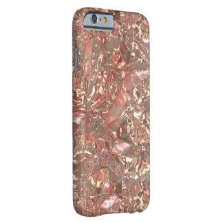 ピンクによってしわにされる金属ホイル BARELY THERE iPhone 6 ケース