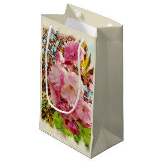 ピンクによっては小さいギフトバッグが開花します スモールペーパーバッグ