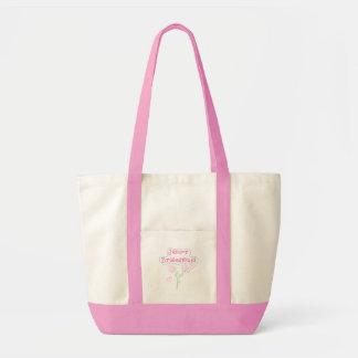 ピンクによっては後輩の新婦付添人が開花します トートバッグ