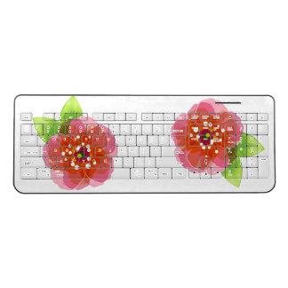 ピンクによっては無線キーボードが開花します ワイヤレスキーボード