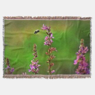 ピンクによってはNの蜂の泡ブランケットが開花します スローブランケット
