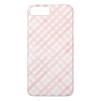 ピンクによって市松模様にされるラインストライプなiPhone 7のプラスの場合 iPhone 8 Plus/7 Plusケース