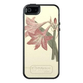 ピンクによって得られる張りめぐらされたアマリリスの絵 オッターボックスiPhone SE/5/5s ケース