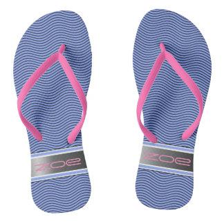 ピンクによって示される波 ビーチサンダル