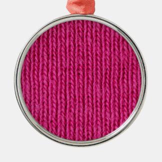 ピンクによって編まれるウール メタルオーナメント