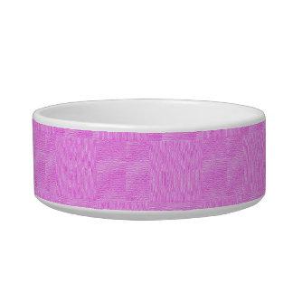 ピンクによって編まれる質の背景 ボウル