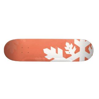 ピンクに対する明るく、白い雪片 18.7CM ミニスケートボードデッキ