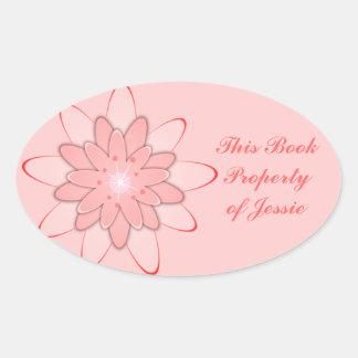 ピンクに部分的 楕円形シール