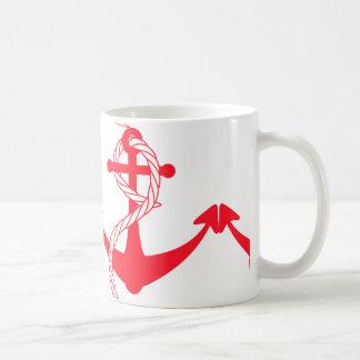 ピンクのいかりのマグ コーヒーマグカップ