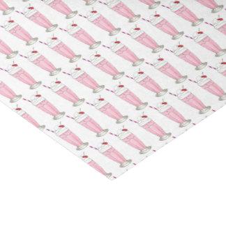 ピンクのいちごのアイスクリームの振動のミルクセーキのデザート 薄葉紙