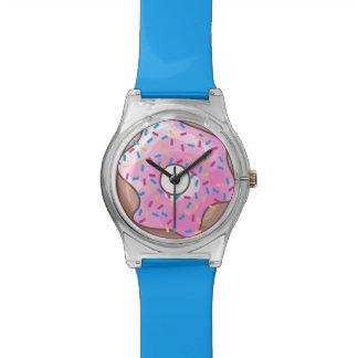ピンクのいちごドーナツ 腕時計
