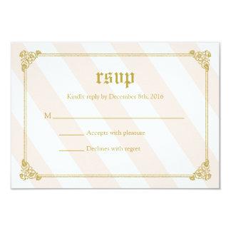ピンクのおとぎ話のプリンセスのベビーシャワーRSVPカード カード