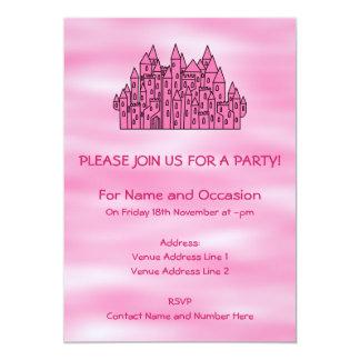 ピンクのおとぎ話の城 カード