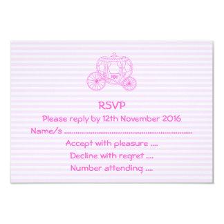 ピンクのおとぎ話キャリッジ カード