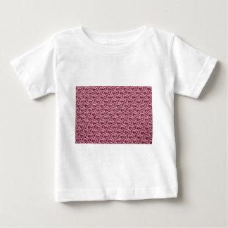 ピンクのかぎ針編み ベビーTシャツ