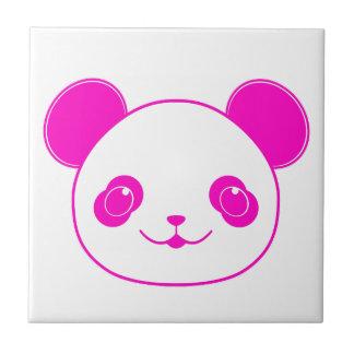 ピンクのかわいいのパンダくま タイル