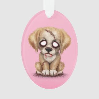 ピンクのかわいいゾンビの小犬 オーナメント