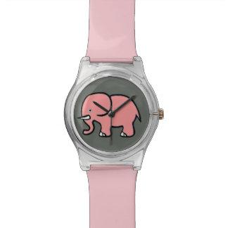 ピンクのかわいい象 腕時計