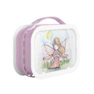 ピンクのかわいく小さい星の妖精 ランチボックス