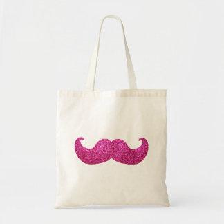 ピンクのきらきら光るな髭(模造のなグリッターのグラフィック) トートバッグ
