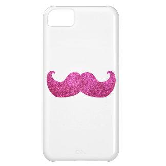 ピンクのきらきら光るな髭(模造のなグリッターのグラフィック) iPhone5Cケース