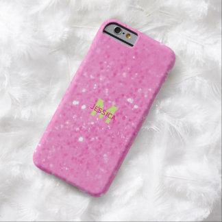 ピンクのきらびやかな一見のモノグラムの場合 BARELY THERE iPhone 6 ケース