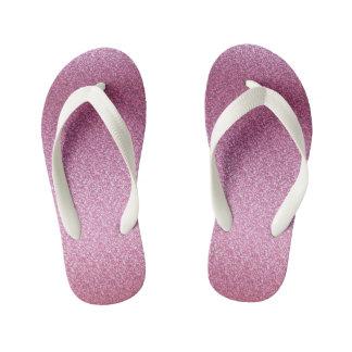 ピンクのきらびやかな勾配 キッズビーチサンダル
