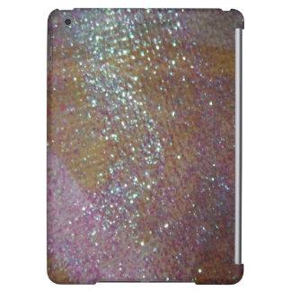 ピンクのきらめくきらめくできらびやかなファッションのiPadの場合