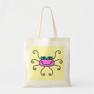 ピンクのくもの予算のトート トートバッグ